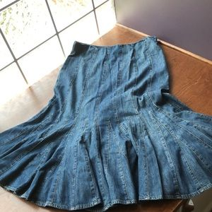 Denim Jean Skirt Fit Flare Ralph Lauren Jeans Co.